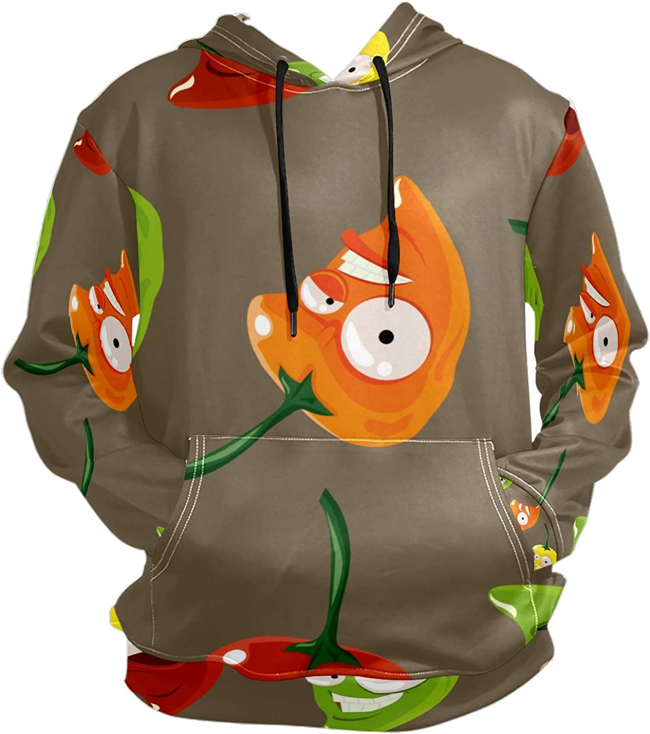 Funny Habanero Peppers Spicy Mens Sport Hoodie Big and Tall Hoodies for Men Women Oversized Hooded Sweatshirt Hip Hop Pullover Hoodie Midweight Hood for Boys Girls
