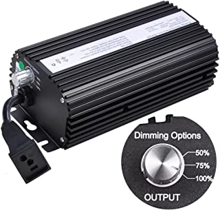 250 Watt Electronic Dimmable Grow Light Ballast for MH HPS w/ Power Cord Built-In Fuse Cooling Fan Stabilize Input 120V/240V