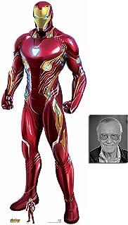 Iron Man Nanotech Suit Avengers Infinity War Lifesize and Mini Cardboard Cutout Fan Pack, 192cm x 74cm, Includes 8x10 Star Photo