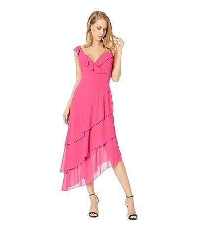 Show Me Your Mumu Samba Maxi Dress (Magenta Chiffon) Women