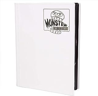 Monster Binder - 9 Pocket Trading Card Album - Matte White - Holds 360 Cards