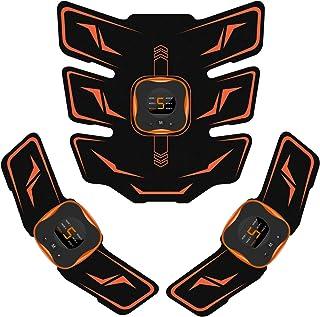 Mixiu EMS 腹筋ベルト 腕筋 背筋 トレーニン器具 液晶表示 USB充電式 腹筋パッド 6種類モード 9段階強度 男女兼用 ジェルシート10枚付き