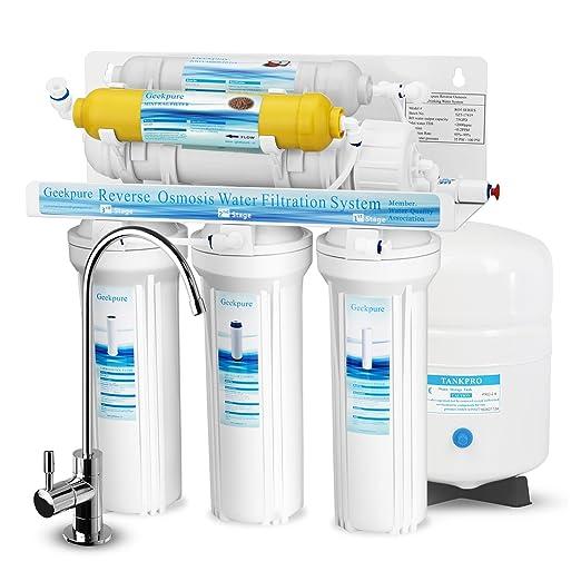 74 opinioni per Geekpure Sistema di filtraggio dell'acqua potabile ad osmosi inversa a 6 stadi