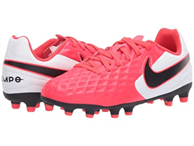 Nike Kids Jr Legend 8 Club FG/MG Soccer (Toddler/Little Kid/Big Kid) (Laser Crimson/Black/White) Kids Shoes