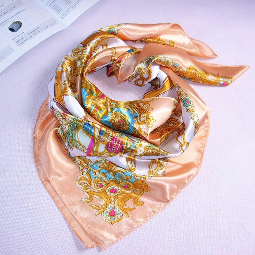 Women Printed Square Scarf Bandana Big Size Imitated Silk Scarf Handkerchief Fashion Scarves Outdoor Summer Scarf