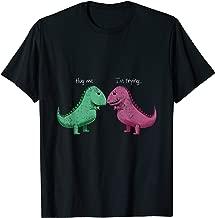T-Rex Hug Me Im Trying Funny Dinosaur Pun Joke Humor Gift T-Shirt