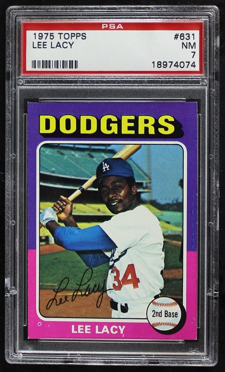 1975 Topps # New Orleans Mall Factory outlet 631 Lee Lacy Baseball PS Dodgers Los Card Angeles