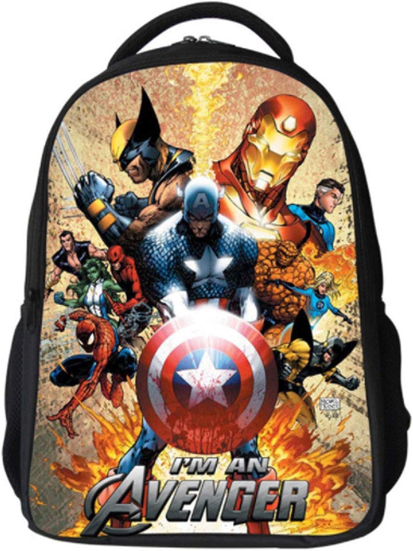 CASUALBOYS Iron Man Captain America Drucken Rucksack Kinder Schulrucksack Teenager Ruckscke Für Jungen Und Mdchen Schultaschen 6-12 Jahre A-42  29  18CM