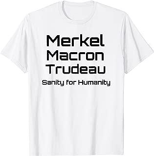 Angela Merkel, Emmanuel Macron, Justin Trudeau T-shirt