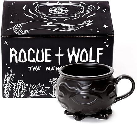 Preisvergleich für Cauldron Kaffee Mug in Geschenkbox von Rogue + Wolf Harry Potter Geschenke Porzellan 3D Neuheit Becher Halloween Dekoration Tee Tasse Hexerei Wiccan Lieferungen 14 oz 400ml
