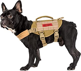 OneTigris Dog Vest Beast MOJO Tactical Dog Harness with Durable Vertical Handle for Small Medium Puppy Dog