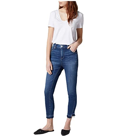 Jag Jeans Viola High-Rise Skinny Jeans with Hem Detail (Tribeca Blue) Women