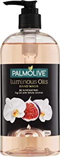 Palmolive Luminous Oils Liquid Hand Wash Soap Rejuvenating Fig Oil with White Orchid Recyclable, 500mL