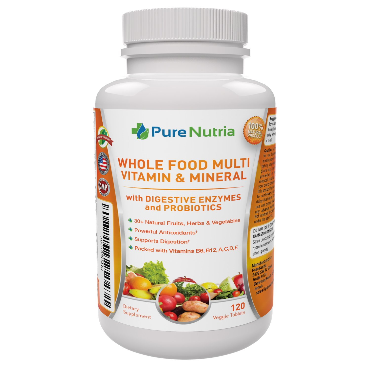 Whole MultiVitamin Minerals Probiotic Enzymes
