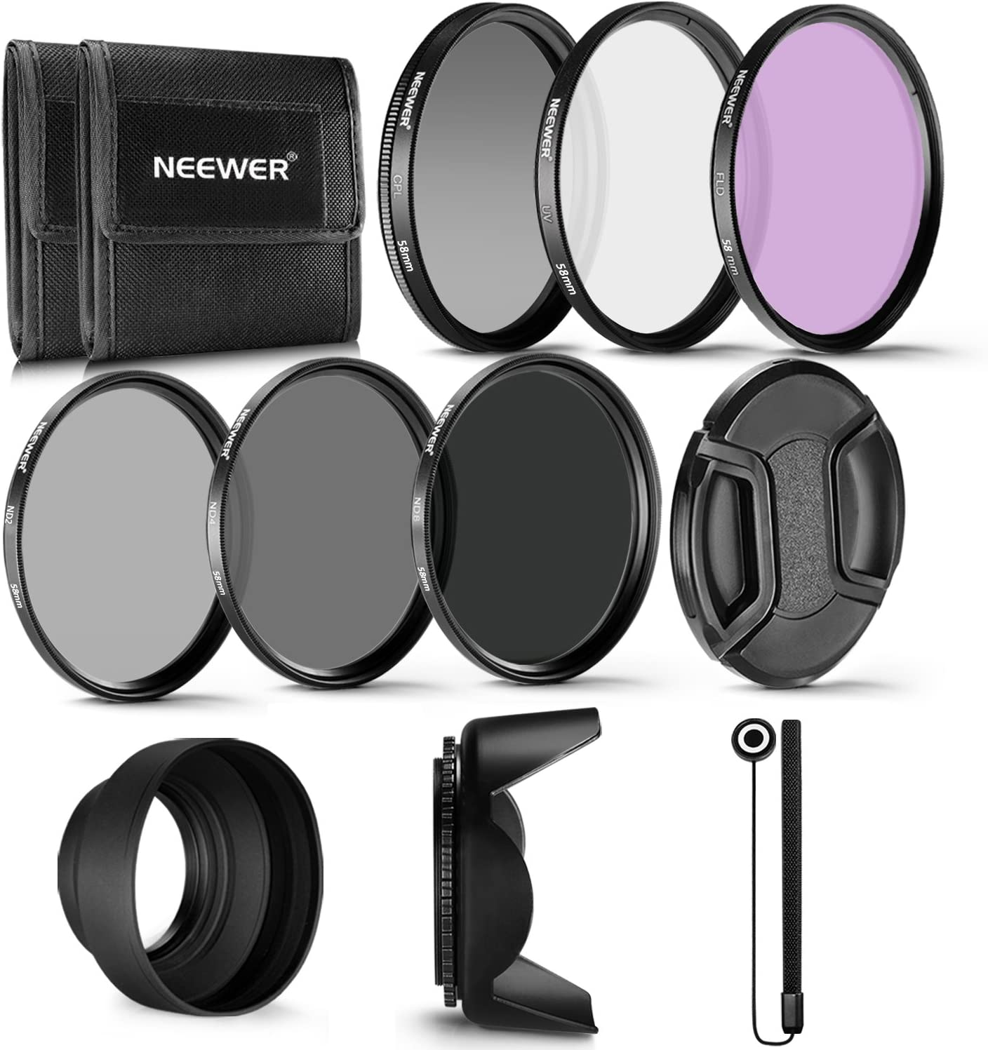 Neewer 58MM Professional Max 77% OFF Fixed price for sale UV CPL FLD Filter D and Lens Neutral ND