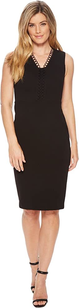 Calvin Klein Circle Neck Trim Sheath CD8C16HL