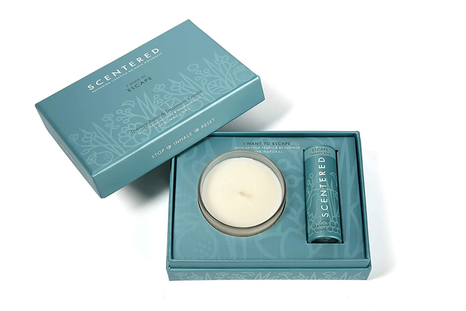 Scentered I Want to Escape Aromatherapy - Set Balm Candle Gift San A surprise price is realized Diego Mall