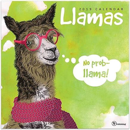 2019 Llamas Wall Calendar