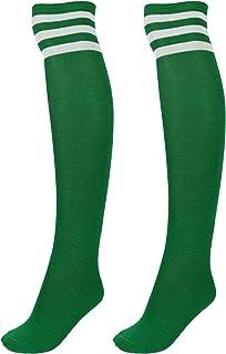 Faletony, Medias por encima de la rodilla, calcetines deportivos a rayas, para mujer, niña, niños
