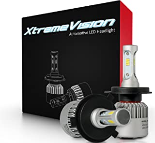 XtremeVision 7G 72W 16,000LM - H4/9003 Dual Beam LED Headlight Conversion Kit - 6500K CSP LED - 2019 Model