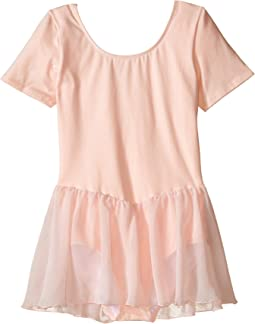 Short Sleeve Leotard with Chiffon Skirt (Toddler/Little Kids/Big Kids)