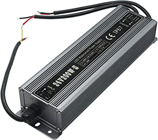 200 Watt Waterproof IP67 LED Power Supply Driver Transformer 110V AC 60Hz to 24V DC Low