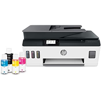 HP Smart-Tank Plus 651 Wireless All-in-One Ink-Tank Printer, up to 2 Years of Ink in Bottles, Auto Document Feeder, Mobile Print, Scan, Copy, Works with Alexa (7XV38A)