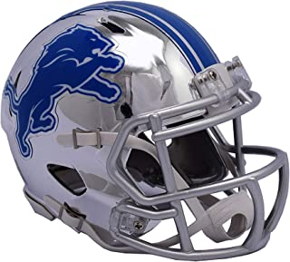 Sports Memorabilia Riddell Detroit Lions Chrome Alternate Speed Mini Football Helmet - NFL Mini Helmets