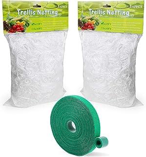 EAPFCT Trellis Netting 5x15ft 2 Pack Heavy-Duty Polyester Plant Support Trellis Net for Climbing Plants Garden Trellis Net...