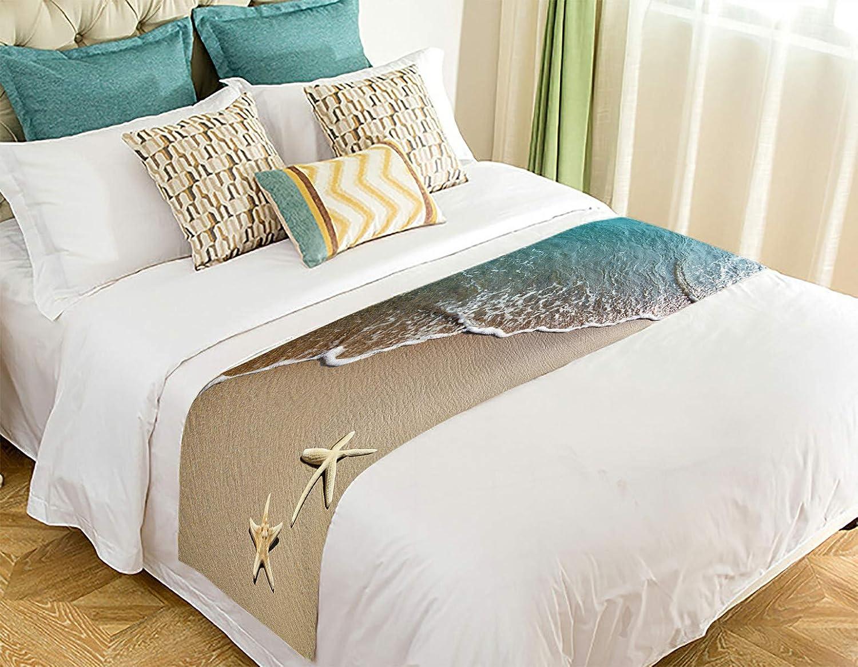 ECJZNT Starfish On Discount is also underway Max 66% OFF A Beach Sand Decor Runner Bed Scarf 2