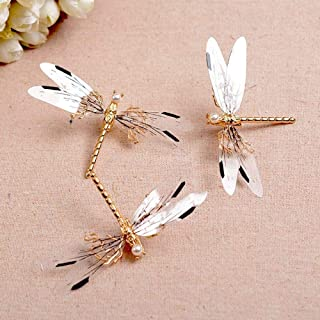 25 Mixed Color Plastic Cute Butterfly Dragonfly Hair Claw Clips Clamp for Kids
