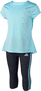 adidas Girls 2 Piece Capri Shirt Set Size 2, 4, 5, 6