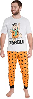 The Flintstones Mens Pyjamas Set, Cartoon Pjs for Men, Funny Gifts for Dad