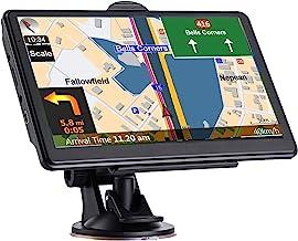 Navegación GPS para el coche, más reciente 2021 mapa 7 pulgadas pantalla táctil real voz hablada paso a vuelta dirección recordando sistema de navegación para coches, vehículo GPS navegador satélite con