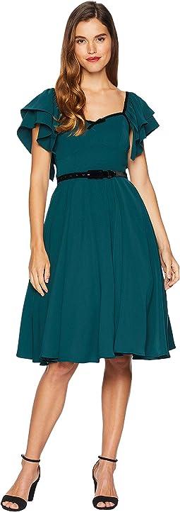 Micheline Pitt for Unique Vintage Chiffon Carmelita Swing Dress