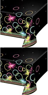Glow Party Blacklight Plastic Table Covers Pack of 2
