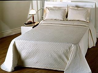 Algodonea Colcha Fina Beige fácil Lavado. Mod. Duda. (sin Cojines) Varias Medidas.170x270 (Cama de 90cm)