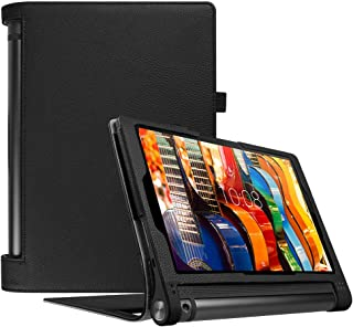 Fintie Lenovo Yoga Tab 3 10 Case (NOT Fit Lenovo Yoga Tab 3 Pro 10 / Yoga Tab 3 Plus 10.1), Premium PU Leather Folio Cover with Auto Sleep/Wake Feature for Yoga Tab3 10.1-Inch Tablet, Black