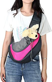 Szxc Pet Purppy Carrier Sling for Small Dog Medium Cat - Hand Free Adjustable Padded Strape Breathable Mesh Front Pocket S...