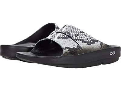 OOFOS OOahh Limited (Black/Snake) Women