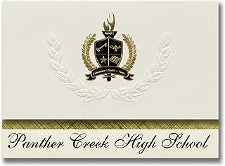 Signature Ankündigungen Panther Creek High School (Cary, NC) NC) NC) Graduation Ankündigungen, Presidential Stil, Elite Paket 25 Stück mit Gold & Schwarz Metallic Folie Dichtung B078VCHSW1  Hochwertige Materialien cf7fa6
