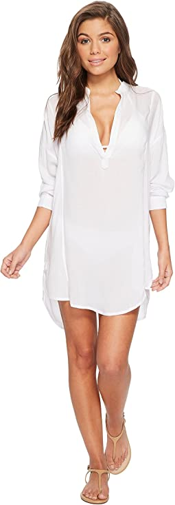 MIKOH SWIMWEAR Cannes V-Neck Tunic Cover-Up