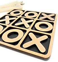 CreaTech-Classic Tic-Tac-Toe Board Game XOXO TicTacToe Classic Board Games Noughts and Crosses Family Brain Teaser Puzzle Coffee Table for Adults and Children All Ages