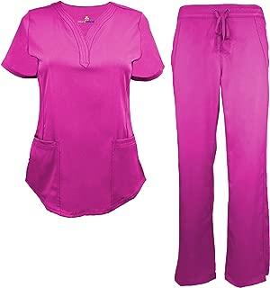 Natural Uniforms Women's Ultra Soft Drop-Neck Scrub Set