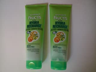 (2-pack) Garnier Fructis Hydra Recharge 1 Minute Moisture-plenish Treatment for Normal to Dry Hair, 8.5 Fluid Ounce