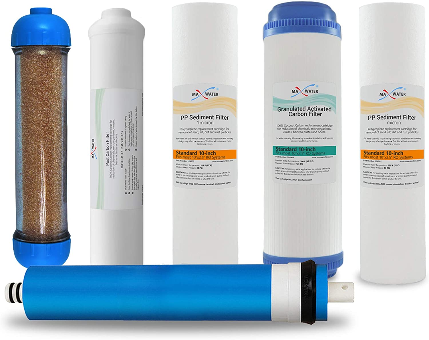 Max Water 6 Stage Reverse Now free shipping Our shop most popular RO Filter DI Replacement Osmosis