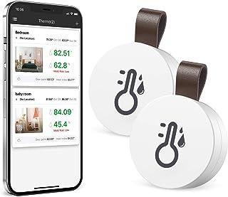 Brifit 2 Piezas Termómetro Higrómetro Bluetooth, Termómetro Inalámbrico Digital, Sensor de Humedad de Temperatura Interior...