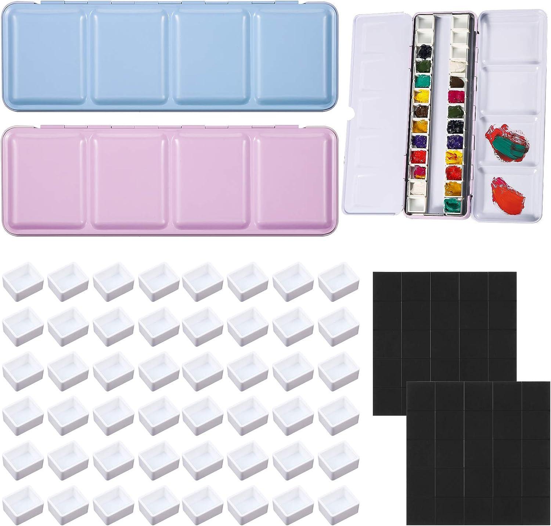 52 Pieces Empty Watercolor Tins Box Set Palette Portable 2 Pain Houston Mall Max 42% OFF