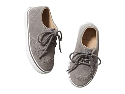 Janie and Jack Wingtip Sneakers (Toddler/Little Kid/Big Kid) (Grey) Boy
