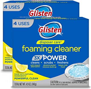 Glisten Disposer Care Foaming Cleaner, Lemon Scent, 4 Use (2 Pack/8 use)